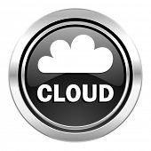 cloud icon, black chrome button