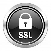ssl icon, black chrome button