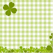 Green Checkered Pattern With Clover