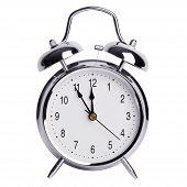 Five Minutes To Twelve On A Alarm Clock