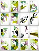 Flyer, Brochure Design Template Set, Business Abstract Geometric Backgrounds, Web or Print Designs