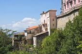 Panoramic view of Viggianello. Basilicata. Southern Italy.