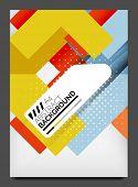Brochure, flyer design template, modern business web online layout