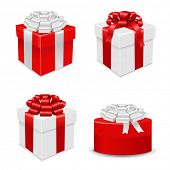 Gift Boxes Set, Vector Illustration