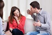 Screaming Husband And Wife During Psychotherapy