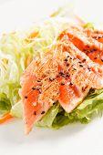 japanese salad with salmon