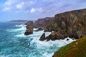 Coastline of Mizen Head in stormy weather, Co. Cork, Ireland