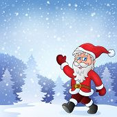 Santa Claus walk theme 7 - eps10 vector illustration.