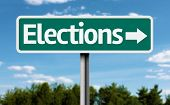 Elections creative green sign