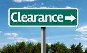 Clearance creative green sign