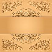 image of rosettes  - Set of decorative floral elements - JPG