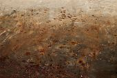 stock photo of oxidation  - Oxidized metal surface making an abstract texture high resolution - JPG