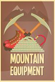 picture of boot camp  - Mountain Climbing Placard in Retro Style - JPG