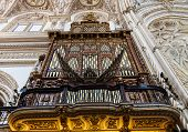 pic of pipe organ  - Detail of a 2 century old organ in a Spanish Catholic Church - JPG