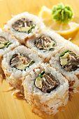 foto of fish skin  - Salmon Skin Maki Sushi  - JPG