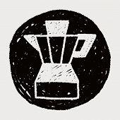 stock photo of juicer  - Juicer Doodle Drawing - JPG