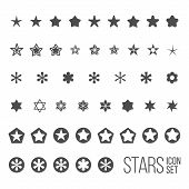 pic of star shape  - Vector set of star icons and pictograms - JPG