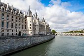foto of royal palace  - Conciergerie castle is a former royal palace and prison in Paris France - JPG