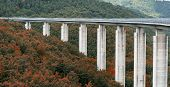 stock photo of inverted  - The highway to Leonessa  - JPG
