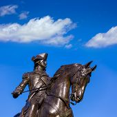 stock photo of common  - Boston Common George Washington monument at Massachusetts USA - JPG