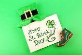 picture of leprechaun  - Greeting card for Saint Patrick - JPG
