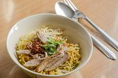 foto of stew pot  - Noodles With Pot - JPG