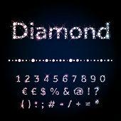 stock photo of diamond  - Vector Diamond letters - JPG