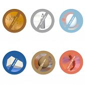 picture of wheat-free  - French stickers for allergen free products - JPG