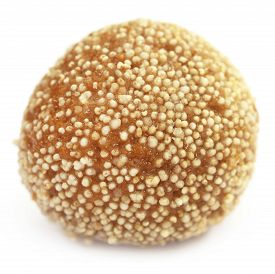foto of laddu  - Laddu of Indian Subcontinent over white background - JPG