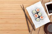picture of soy sauce  - Sushi set - JPG