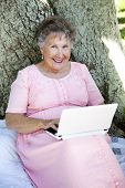 Senior Woman With Netbook