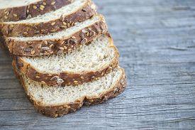 picture of fresh slice bread  - Close - JPG