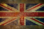 Grunge Union Jack Flag Grafik