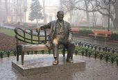 Monument Leonid Utyosov In The Municipal Gardens, Odessa, Ukraine