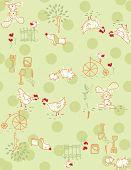 Vector Children's Farm Animals Pattern (seamless)
