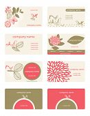 Vector Feminine Business Cards (Set of 8)