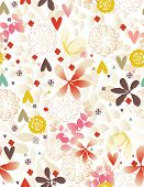 Vector Ornamental Garden (Seamless Pattern)