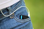 Mp3 Player In Jeans Pocket