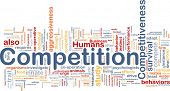 Background concept wordcloud illustration of competition