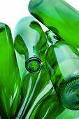 Green Bottles Of Glass