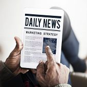 News Business Communication Marketing Concept poster