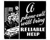 Reliable Help - Retro Ad Art Banner