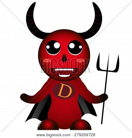 Red Colorful Devil Diablo Monster