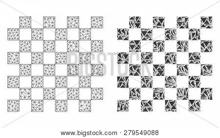 Mesh Vector Chess Board With