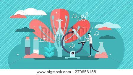 Biology Vector Illustration Flat Tiny