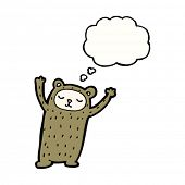 odd bear cartoon with thought bubble