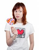 Red-haired Girl With A Lollipop