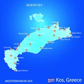 Island Of Kos In Greece Map