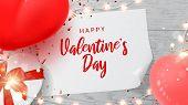 Happy Saint Valentines Day Web Banner poster