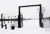 image of auschwitz  - Auschwitz concentration camp was a network of Nazi concentration and extermination camps built and operated by the Third Reich in Polish areas annexed by Nazi Germany during World War II - JPG